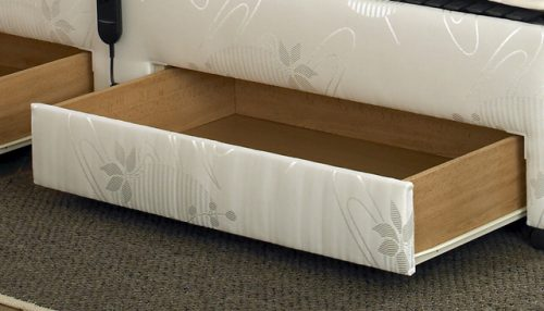Matching draws on left side of bed