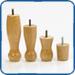 Shallow base wooden legs