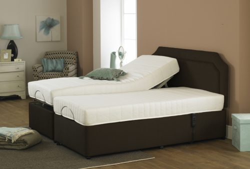 Imperial Opulence Memory Foam Adjustable Dual Bed