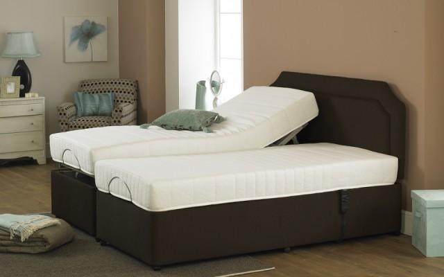 Imperial Opulence Memory Foam Adjustable Dual Bed