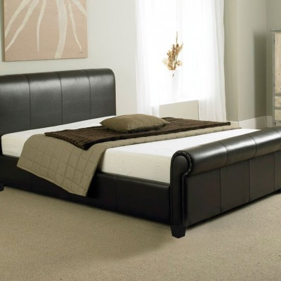 Belgravia Brown Electric Adjustable Leather Bed