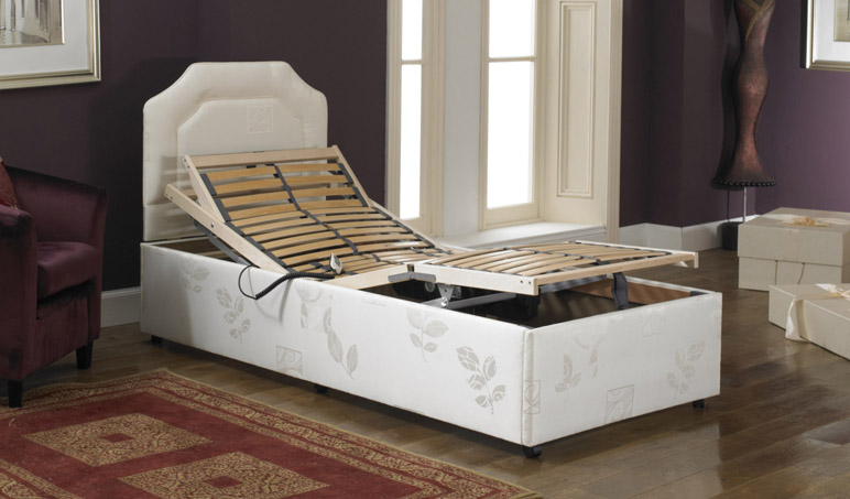 Imperial Opulence Memory Foam Adjustable Single Bed Flat